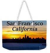 San Francisco Sunrise 2x3 Weekender Tote Bag