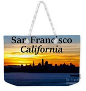 San Francisco Sunrise 2x3 Weekender Tote Bag