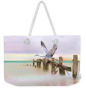 Sandhill Crane And Old Dock Weekender Tote Bag