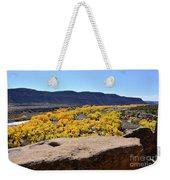 Sandstone Above Golden River Desert Landscape Weekender Tote Bag