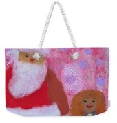Santa Claus And Guardian Angel - Pintoresco Art By Sylvia Weekender Tote Bag