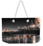 Santa Monica Glow By Mike-hope Weekender Tote Bag