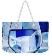 Santorini Greece Evening  Weekender Tote Bag by Colette V Hera Guggenheim