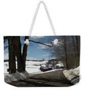Sap Buckets Ready At The Jenne Farm Weekender Tote Bag by Jeff Folger