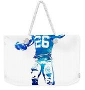 Saquon Barkley New York Giants Water Color Pixel Art 10 Weekender Tote Bag