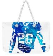 Saquon Barkley New York Giants Water Color Pixel Art 11 Weekender Tote Bag