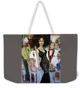 Satin Night Weekender Tote Bag