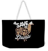 Save The Fluffy Llama Weekender Tote Bag