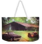 Scenes From The Past - Trucks And Tractors Weekender Tote Bag