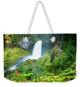 Scenic View Of Waterfall, Portland Weekender Tote Bag