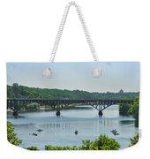 Schuylkill River View - Strawberry Mansion Bridge Weekender Tote Bag