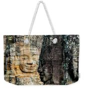 Sculptures At Bayon Temple, Angkor Weekender Tote Bag