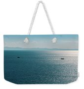 Sea With Two Boats Weekender Tote Bag