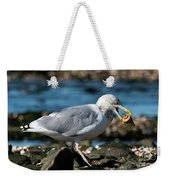 Seagull Carrying Snail Weekender Tote Bag