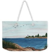 Seagulls Over Lighthouse Cove Weekender Tote Bag