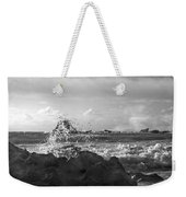 Seascape In Black And White Weekender Tote Bag