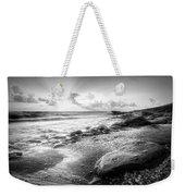 Seashells On The Seashore In Black And White Weekender Tote Bag