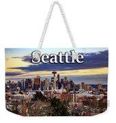 Seattle From Kerry Park Weekender Tote Bag