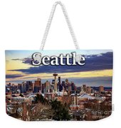 Seattle From Kerry Park Weekender Tote Bag