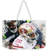 Seattle Seahawks Against San Francisco 49ers Weekender Tote Bag