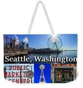Seattle Washington Waterfront 01 Weekender Tote Bag
