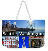 Seattle Washington Waterfront 01 Weekender Tote Bag