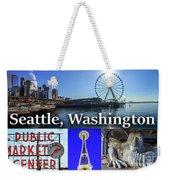 Seattle Washington Waterfront 02 Weekender Tote Bag