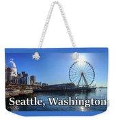 Seattle Washington Waterfront  Weekender Tote Bag