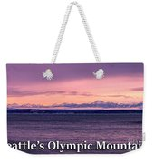 Seattle's Olympic Mountains Weekender Tote Bag