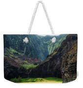 Secluded Kalalau Beach Weekender Tote Bag by Andy Konieczny