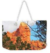 Sedona Adobe Jack Trail Blue Sky Clouds Trees Red Rock 5130 Weekender Tote Bag