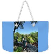 Self Portrait 20 - Aligned With A Half Moon Over Downtown Austin At Zilker Botanical Garden Weekender Tote Bag