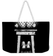 Sensual Woman Sitting Rear View Weekender Tote Bag