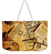Sentimental Writings Weekender Tote Bag