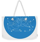 Seoul Blue Subway Map Weekender Tote Bag
