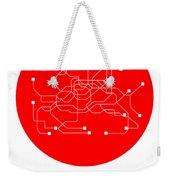 Seoul Red Subway Map Weekender Tote Bag