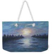 Serene River Sunset Weekender Tote Bag