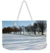 Shadows In The Snow Weekender Tote Bag