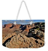 Shafer Canyon In Canyonlands Np Weekender Tote Bag