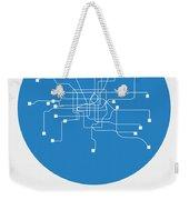 Shanghai Blue Subway Map Weekender Tote Bag