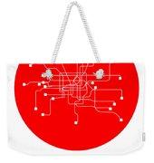 Shanghai Red Subway Map Weekender Tote Bag