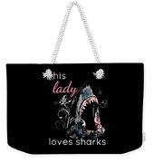 Shark Lover This Lady Loves Sharks Weekender Tote Bag