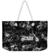 Shiny Bikes Galore In Black And White Weekender Tote Bag
