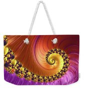 Shiny Purple And Gold Spiral Weekender Tote Bag
