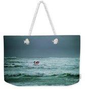 Shooting The Surf Weekender Tote Bag by Judy Hall-Folde