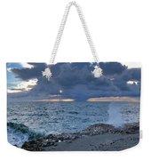 Shoreline Rain Clouds Weekender Tote Bag
