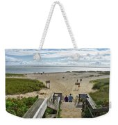 Shoreline Staircase By Uscg Station Chatham Cape Cod Massachusetts Weekender Tote Bag