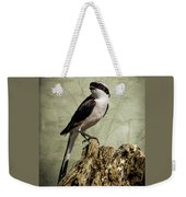 Shrike Of The Serengeti Weekender Tote Bag by Mary Lee Dereske