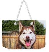 Siberian Husky Digital Art A030819 Weekender Tote Bag by Mas Art Studio