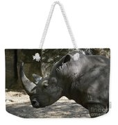 Side Profile Of A Large Rhinoceros With Two Horns  Weekender Tote Bag
